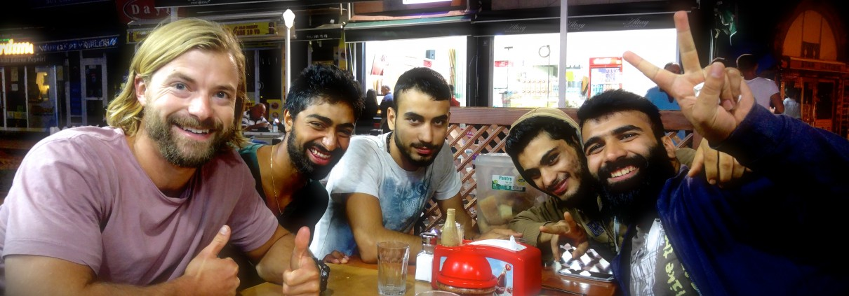 Hanging with the guys in Edirne
